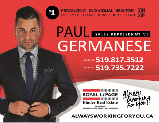 Paul Germanese - Realtor, Royal LePage Binder Real Estate (Windsor-Essex County)